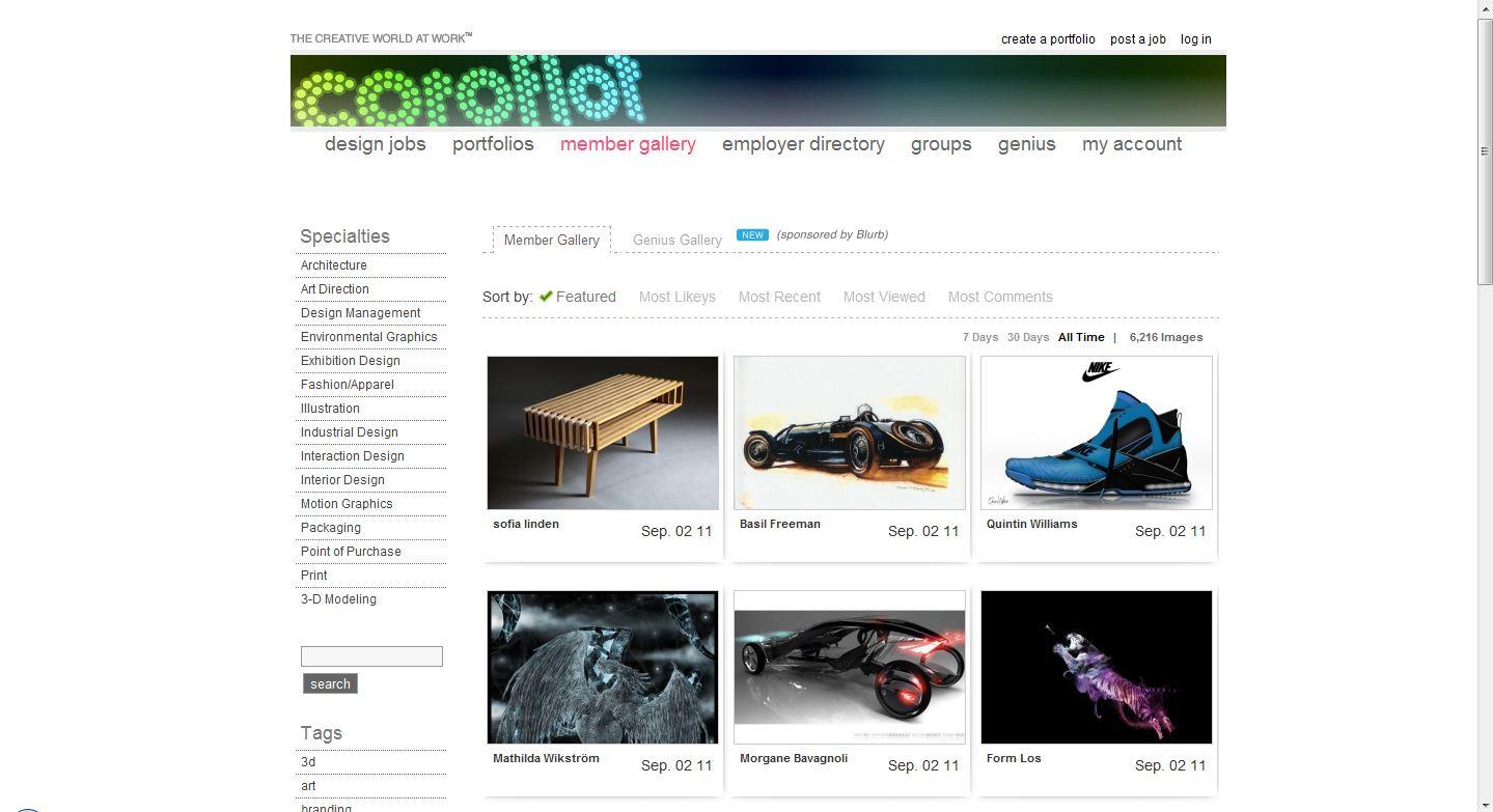 coroflot 300x163 Popüler Yabancı Fotoğraf Paylaşım Siteleri