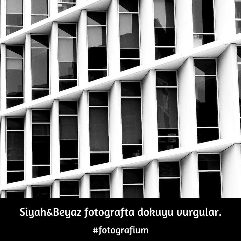 Siyah&Beyaz fotograftadokuyu vurgular.