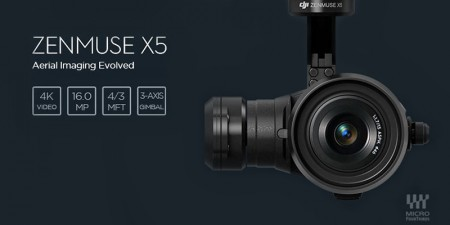 DJI Zenmuse X5 Gimbal ile Yeni Kamera Sistemini Duyurdu