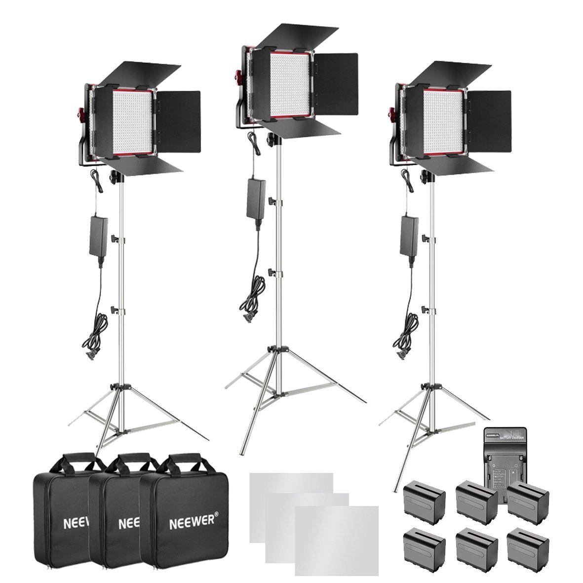 Ürün fotoğraf ve videosu için Led ışık seti